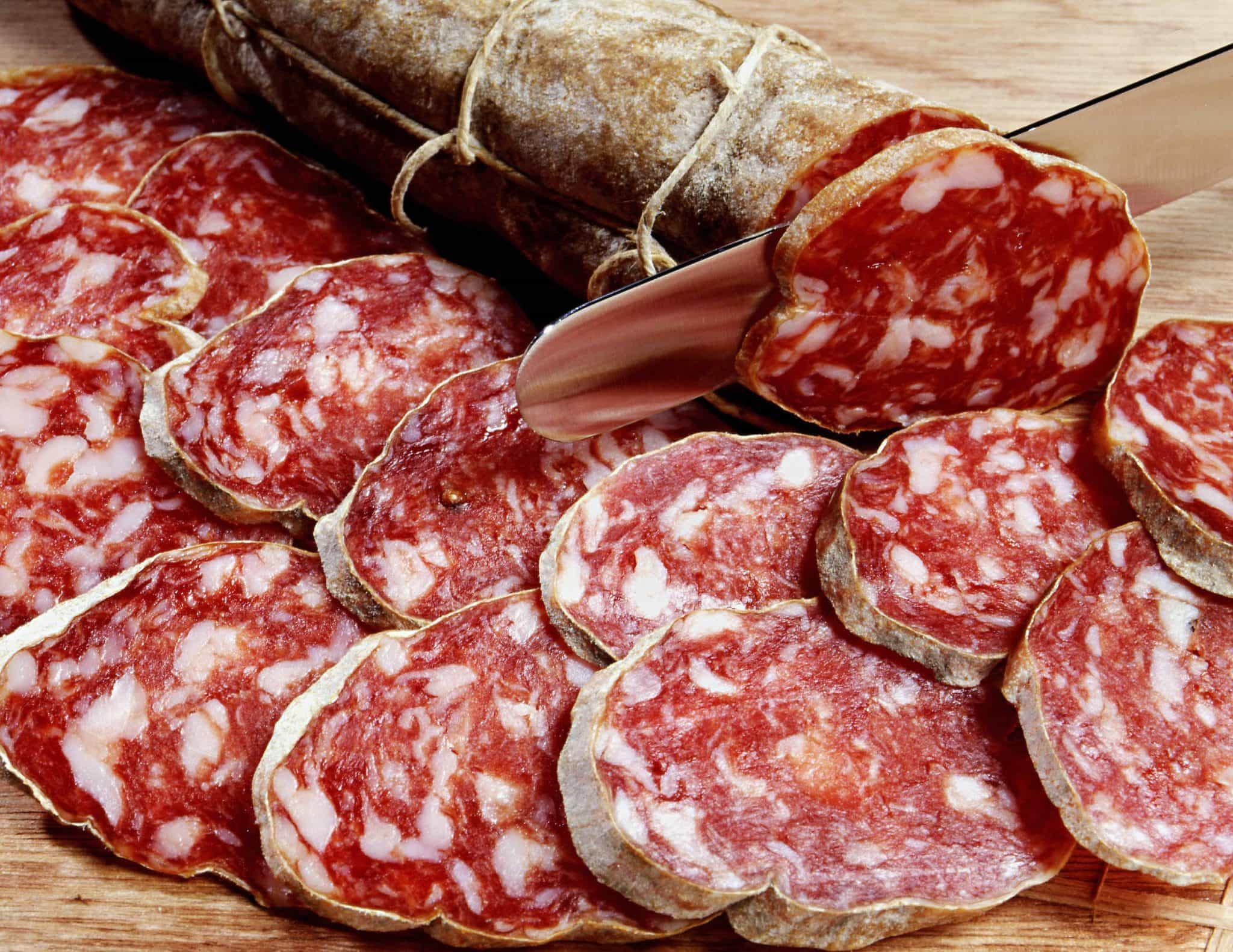 What is salami made of has a simple answer.